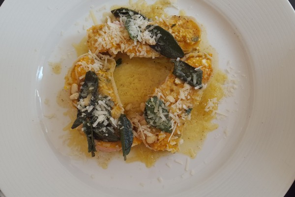The butternut, pine nut and sage rotolo at The Glenwood Restaurant. Photo by Nikita Buxton.