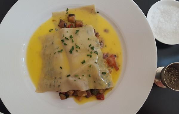 The open ravioli with ratatouille at The Glenwood Restaurant. Photo by Nikita Buxton.