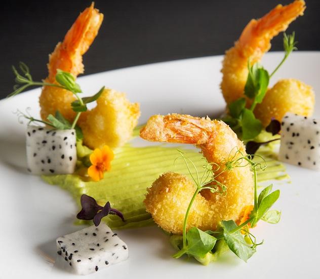 A prawn dish at Idiom Restaurant. Photo supplied.