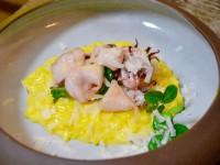 Saffron risotto with squid