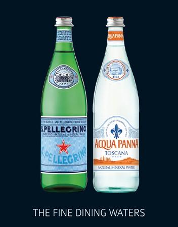 San Pellegrino and Acqua Panna waters