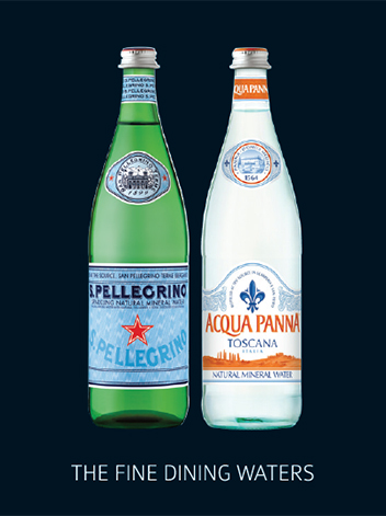 San Pellegrino and Acqua Panna waters