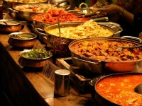a buffet prepared and served at Sehaj Indian Cuisine
