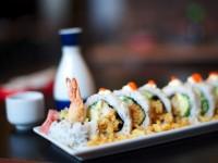 A sushi dish at Takumi