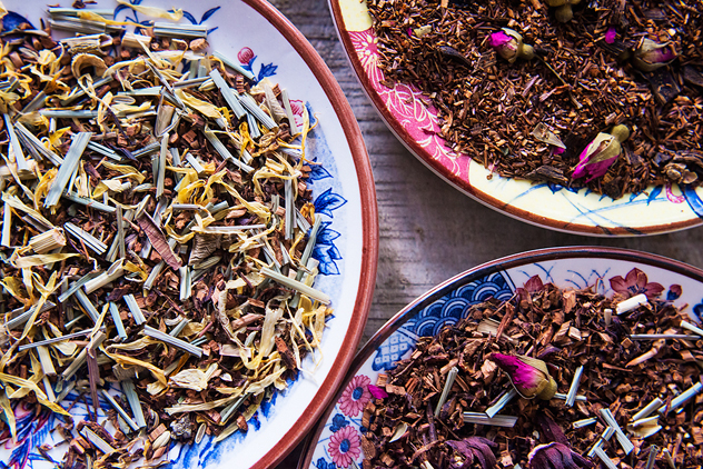 Loose-leaf teas at The Tea Bar