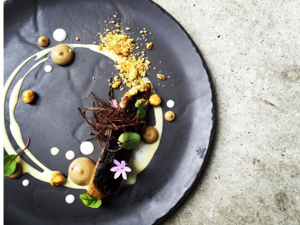 A beautifully plated dish at The Restaurant at Waterkloof. Photo supplied.