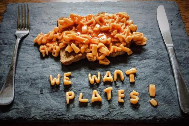 We want plates slate
