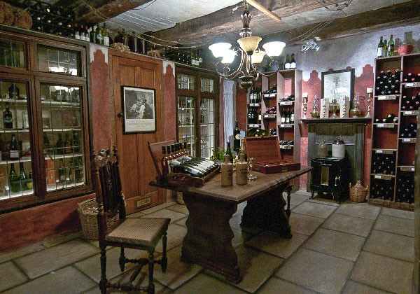 The cosy wine cellar at Cleopatra Mountain Farmhouse. Photo supplied.