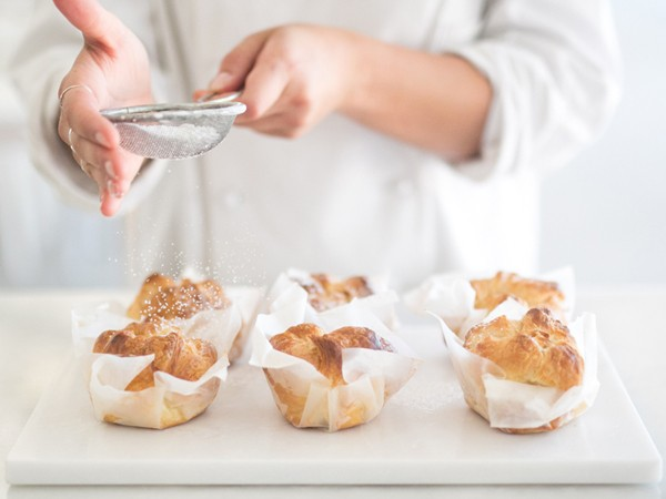 Freshly baked cruffins before being filled and topped with the daily flavour. Photo supplied.