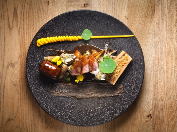 A wintery meat dish at Foliage. Photo by Jan Ras.