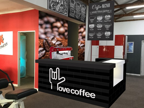 A rendering of I Love Coffee in Claremont that's set to open this June. Photo supplied.