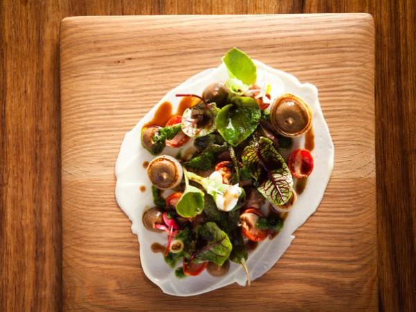 A vibrant dish at Jordan Restaurant. Photo by Jan Ras.