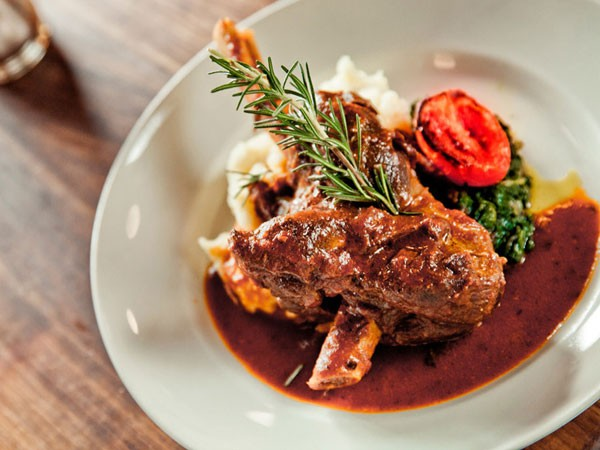 Lamb shank at Lupa Osteria in Durban. Photo supplied.