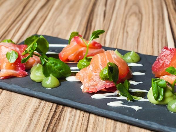 A sushi-style salad at Greedy Buddha. Photo supplied.