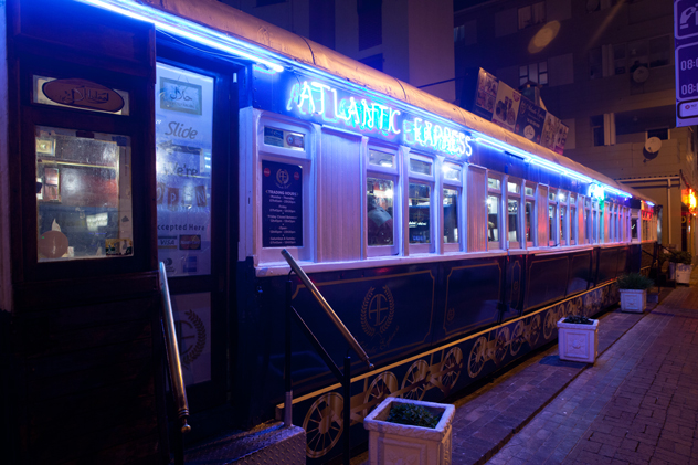 Exterior of the Atlantic Express Train. Photo supplied