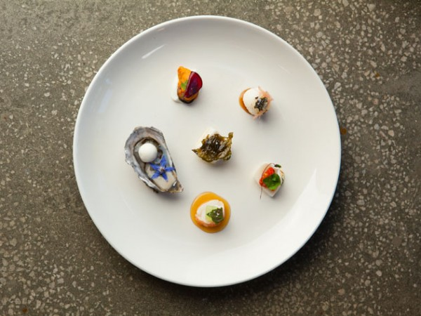 A dish at Tokara by chef Richard Carstens. Photo by Jan Ras.