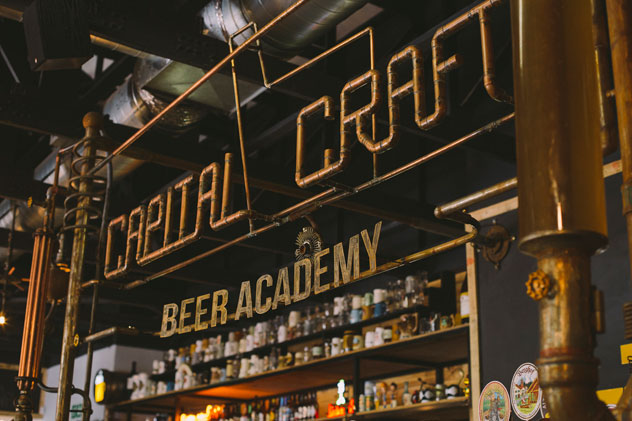 The bar at Capital Craft Beer Academy. Photo supplied.