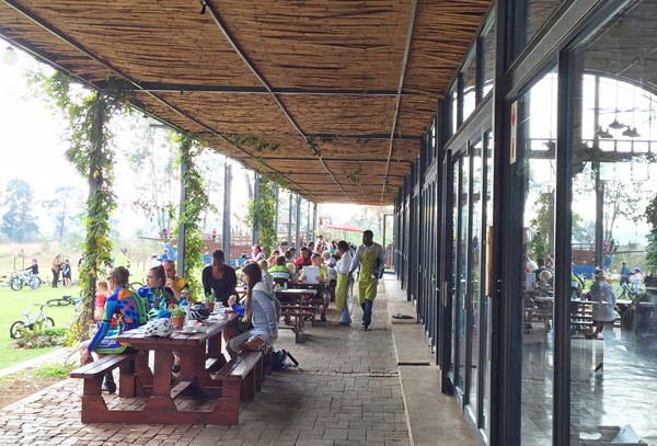 The outside seating area. Photo by Hennie Fisher.