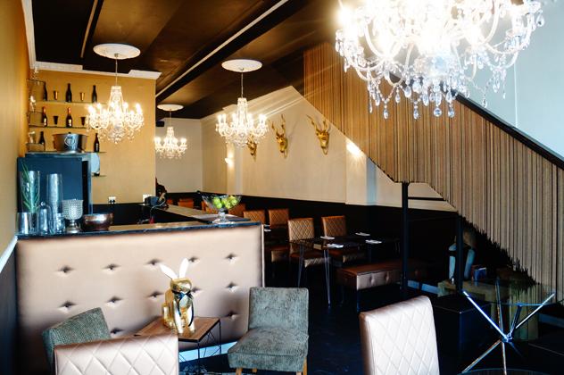The chandelier-laden interior. Photo supplied.