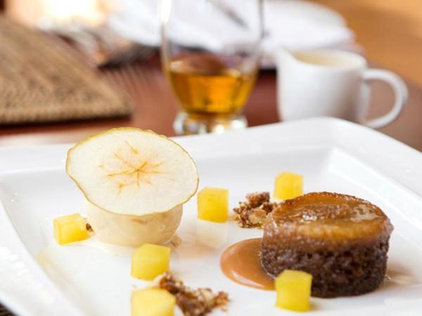 Malva pudding at Racine at Chamonix. Photo supplied.