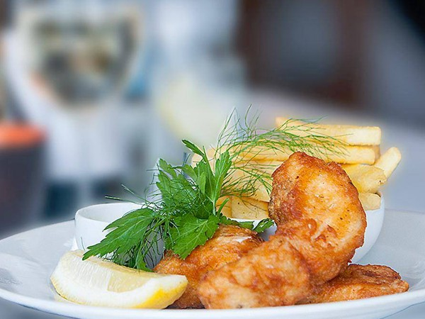 Battered fish at The Fat Fish. Photo supplied.