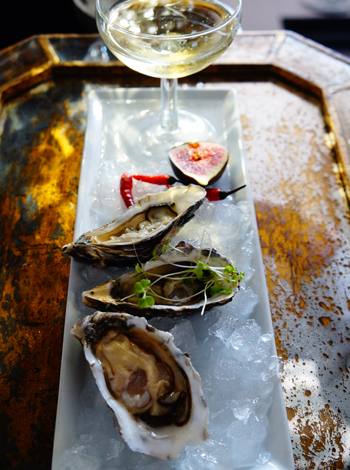 Oysters and bubbly at Pop Champagne Bar. Photo supplied.