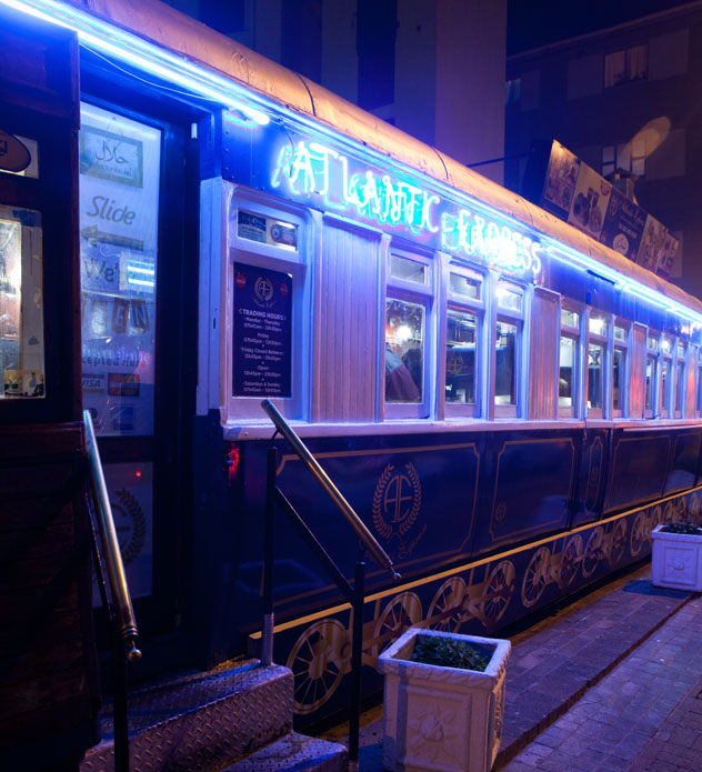 The Atlantic Express Train Restaurant in Sea Point. Photo by Jan Ras.