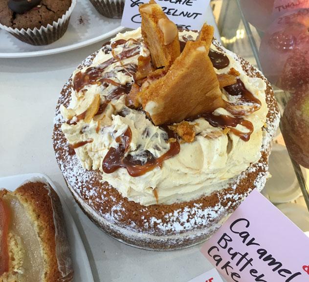 A caramel butter cake. Photo by Lynda Ingham-Brown.
