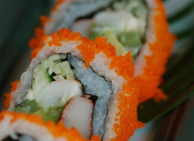 Caviar California rolls at Padbok Thai. Photo supplied.