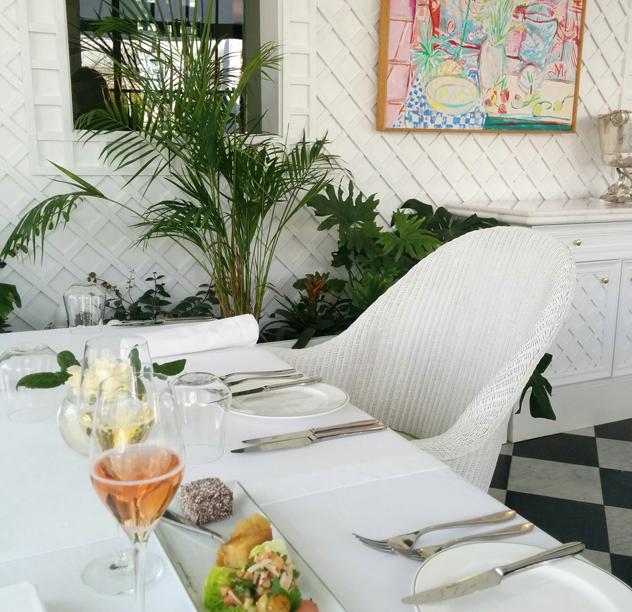 Inside Le Lude's Orangerie restaurant