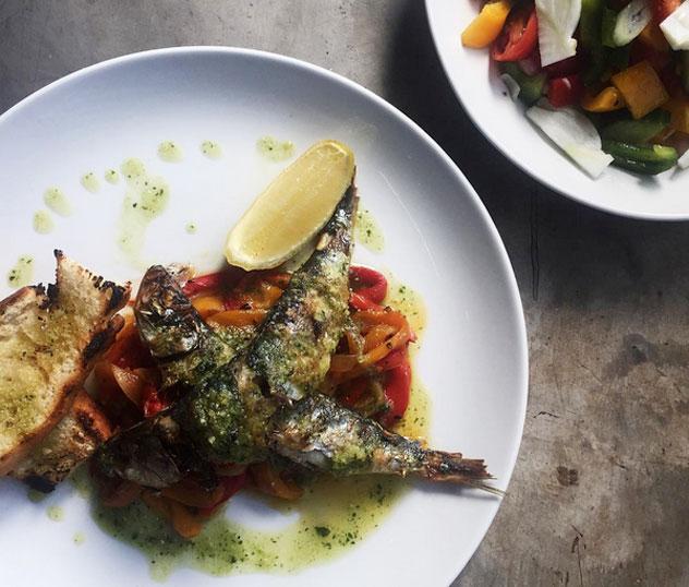 Sardines-and-salad-at-Selva