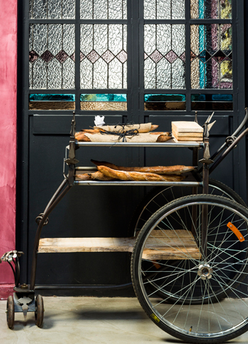 The bread trolley. Photo supplied.