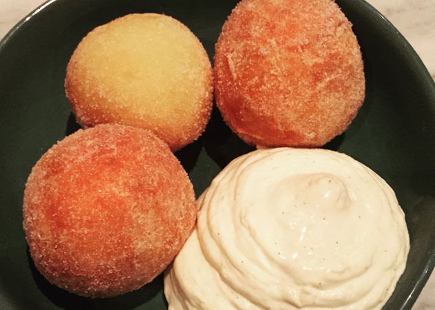 The doughnuts with cheese cake batter at ASH. Photo supplied.