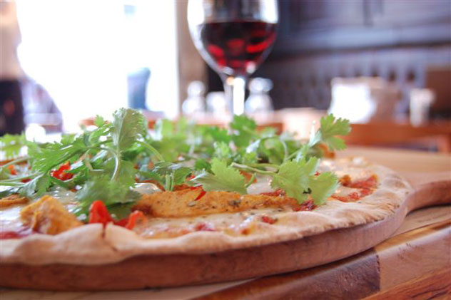 Pizza and wine at Piza e Vino. Photo supplied.