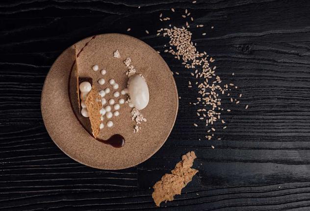 A banana-barley malt ice cream dessert. Photo supplied.
