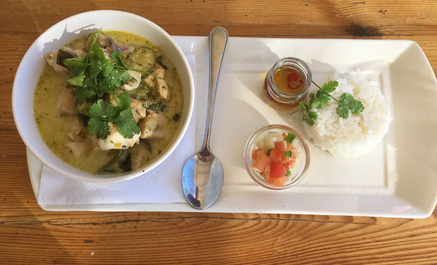 The Thai chicken curry. Photo by Crispian Brown.