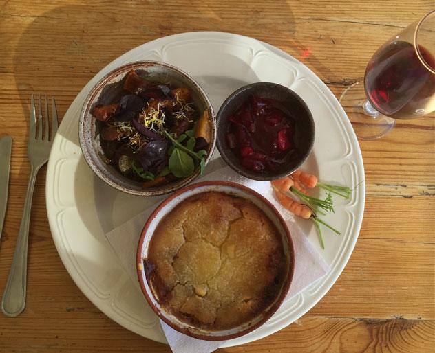 The venison pot pie. Photo by Crispian Brown.
