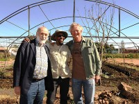 Carlo Petrini with Phila Cele and Geoff Green