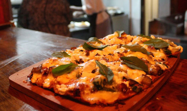 One of the flatbreads on offer. Photo supplied.