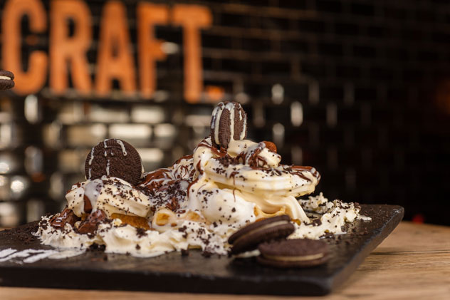 Craft's waffle with cookies and cream. Photo supplied.