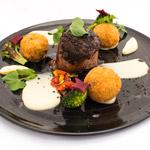 beef dish at Fleisherei Bistro