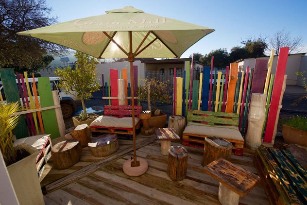 The outside area is lovely on sunny days. Photo supplied.
