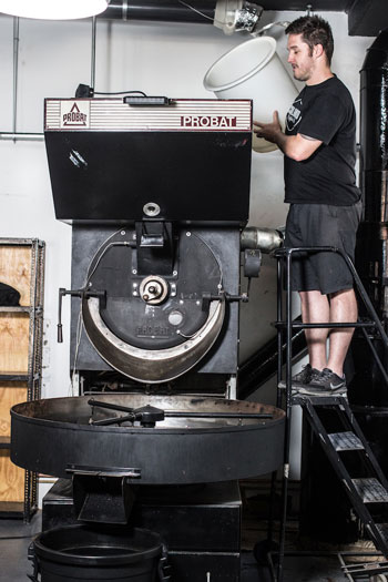 The roaster at Colombo Coffee in Durban North. Photo supplied.