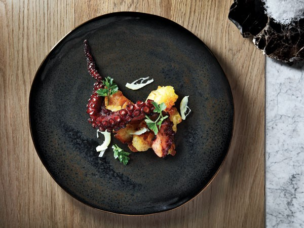 The blackened octopus with paprika potato. Photo supplied.