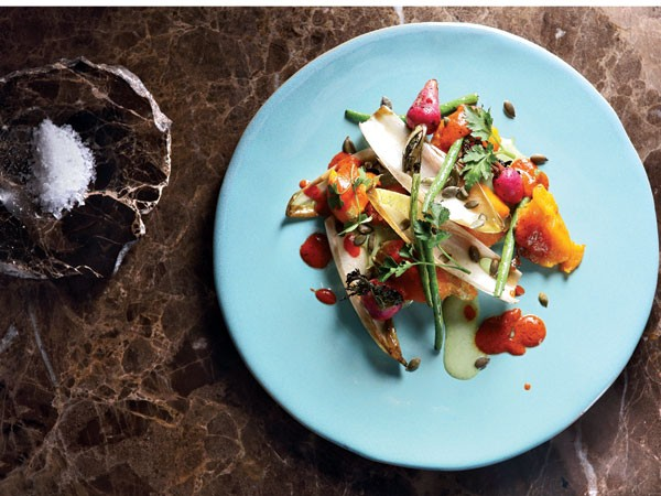 Harissa and pumpkin with green beans and a buttermilk dressing. Photo supplied.