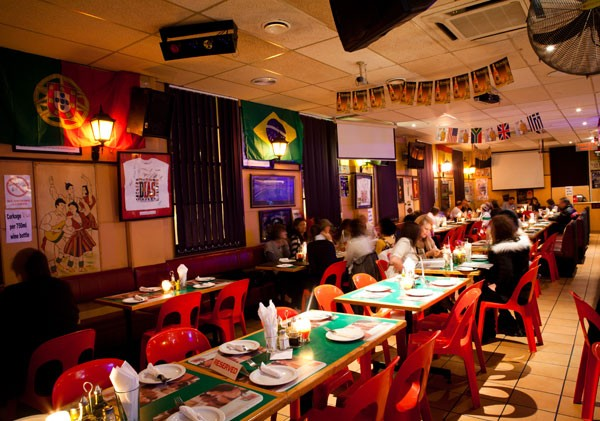 The festive interior at Dias Tavern. Photo supplied.