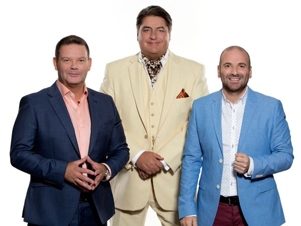 Gary Mehigan, Matt Preston and George Calombaris of MasterChef Australia. Photo supplied.