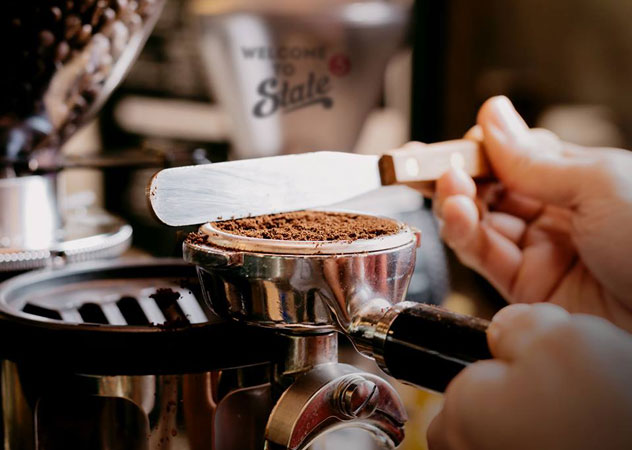 Coffee being prepared at State 5 Coffee. Photo supplied.
