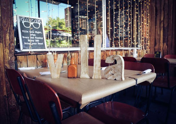 The outdoor tables at Villa Tavern in Vredehoek. Photo supplied.