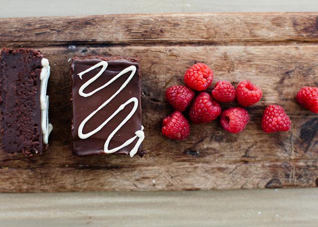 The raspberry brownie at Yummi. Photo supplied.
